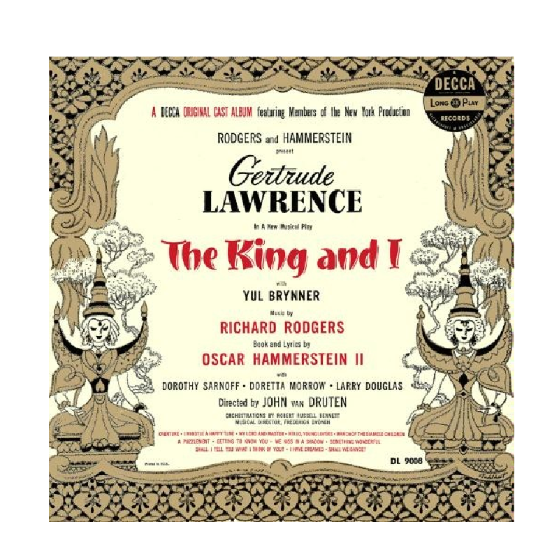 King and I CD- A Decca Broadway Original Cast Album