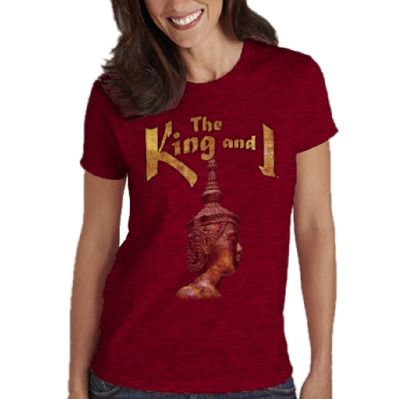 King and I Ladies Antique Cherry Tee