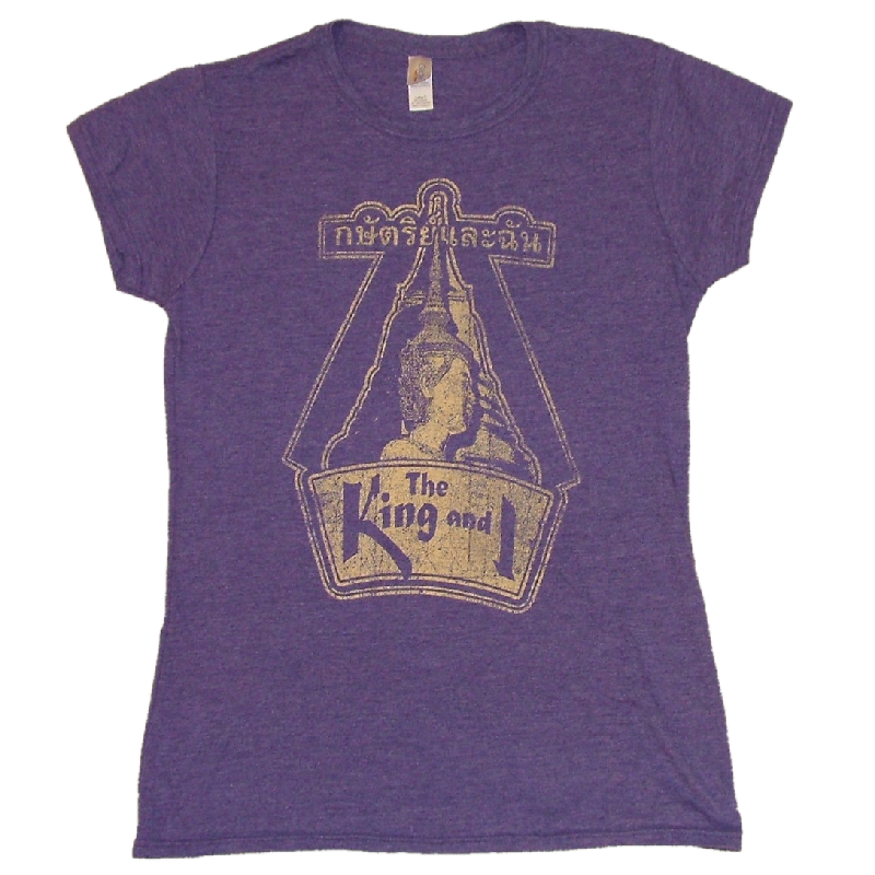 King and I Ladies Heather Purple Tee