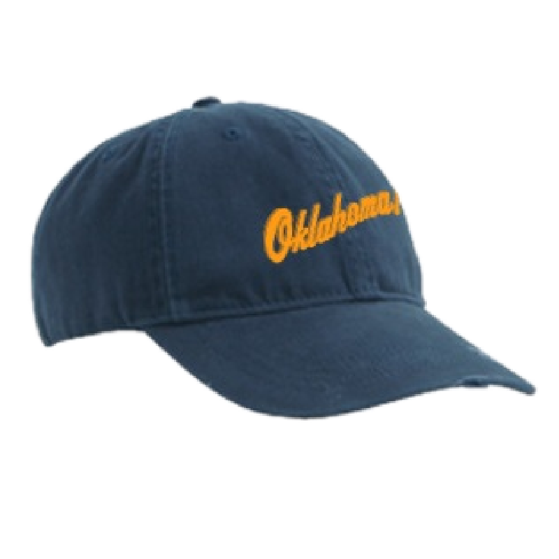 Oklahoma Distressed Navy Ballcap
