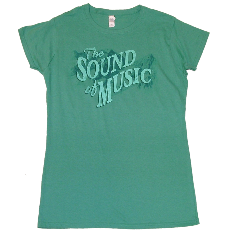 Sound of Music Ladies Scrub Green Tee