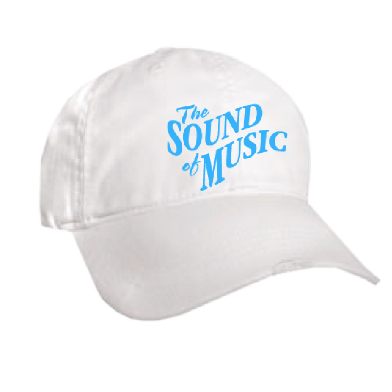 Sound of Music Distressed White Ballcap